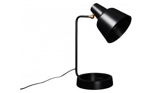 Lampe de table 43cm en fer noir