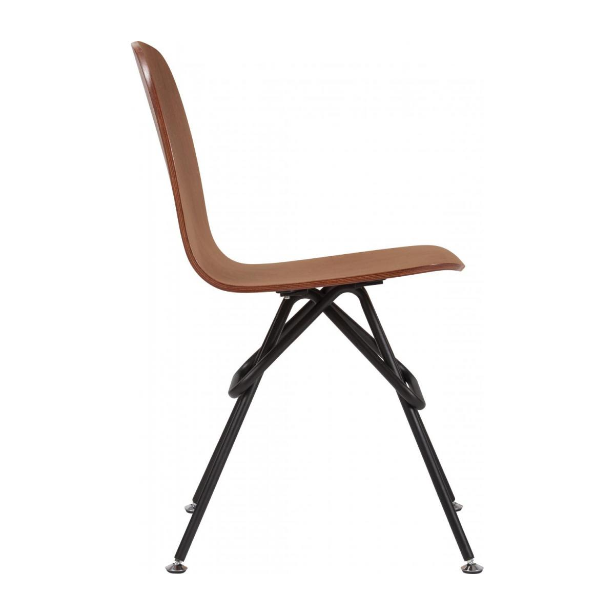 Walnut chair and black steel legs n°5