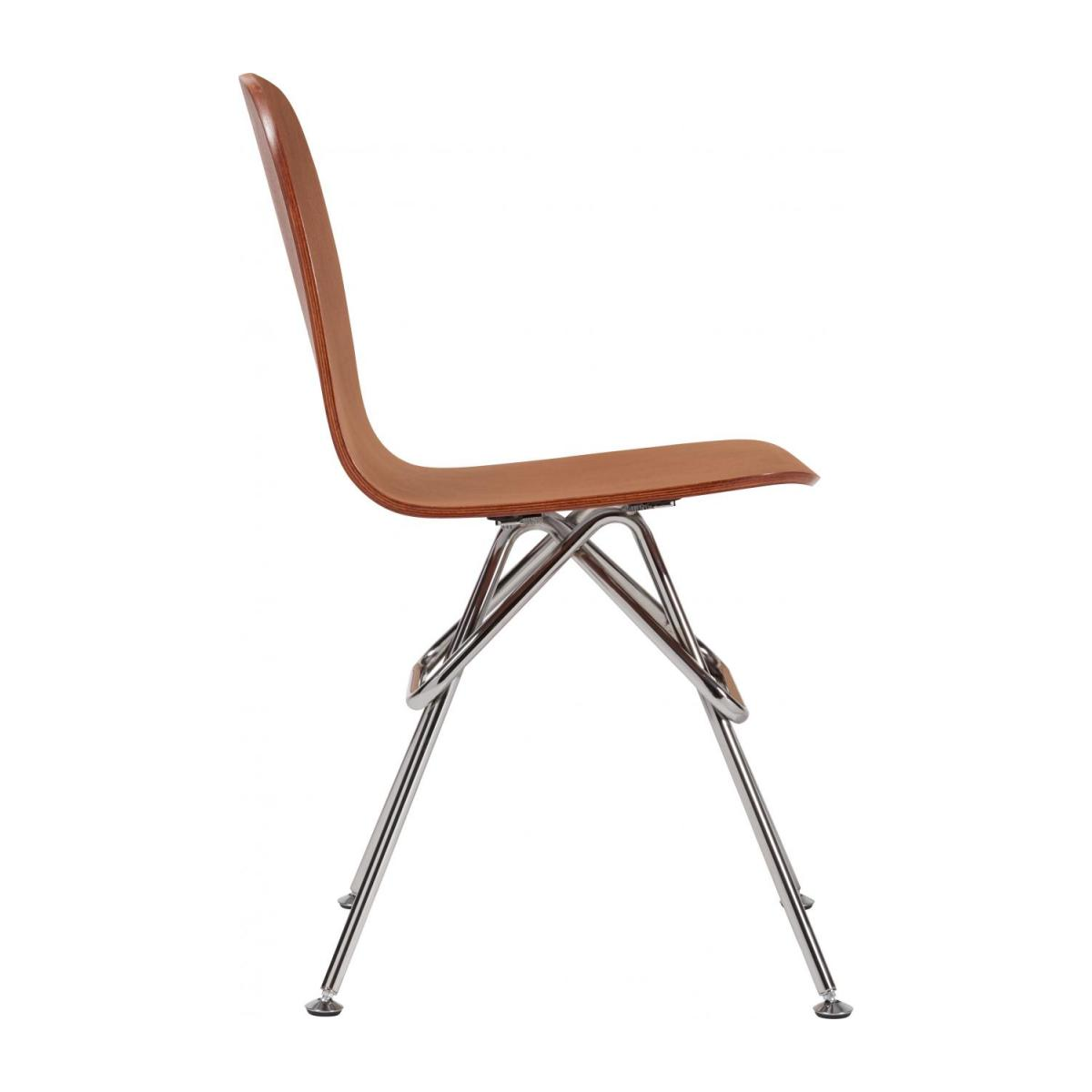 Walnut chair and chrome steel legs n°5