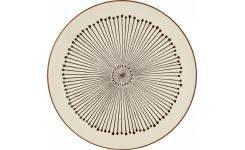 Flat plate made of sandstone 27cm, beige with patterns