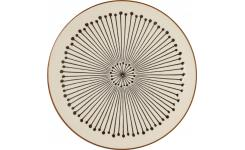 Dessert plate made of sandstone 20,5cm, beige with patterns