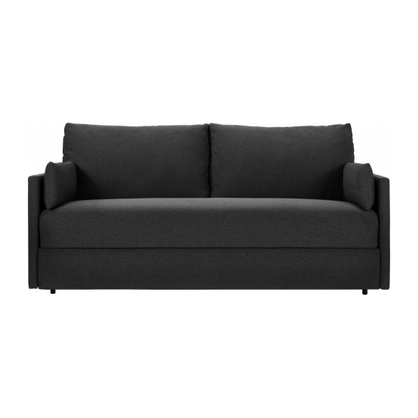 carl 3 sitzer schlafsofa mit lattenrost aus stoff. Black Bedroom Furniture Sets. Home Design Ideas