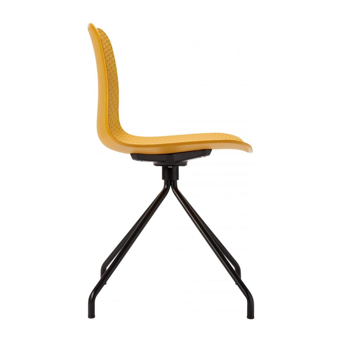 Yellow chair in polypropylene and lacquered steel legs n°5