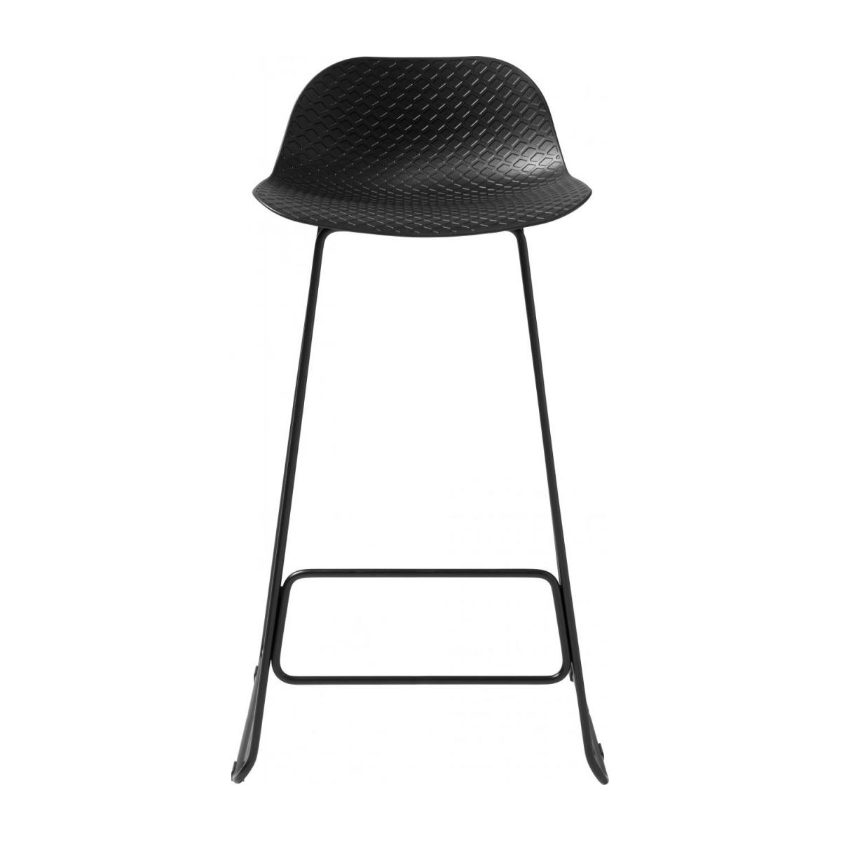 Black high stool in polypropylene and lacquered steel legs n°2