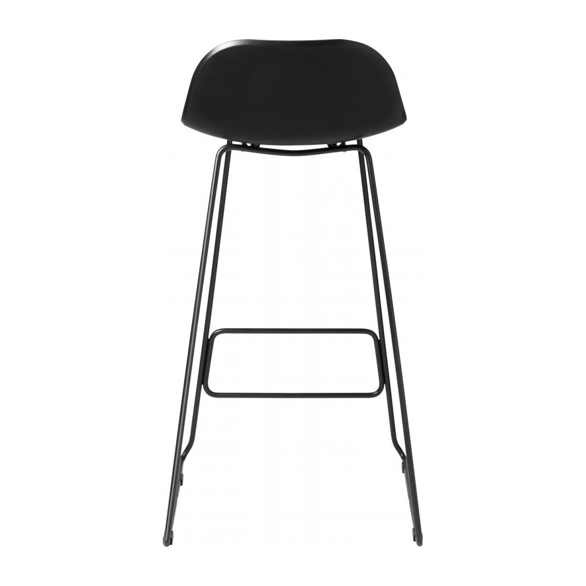 Black high stool in polypropylene and lacquered steel legs n°3