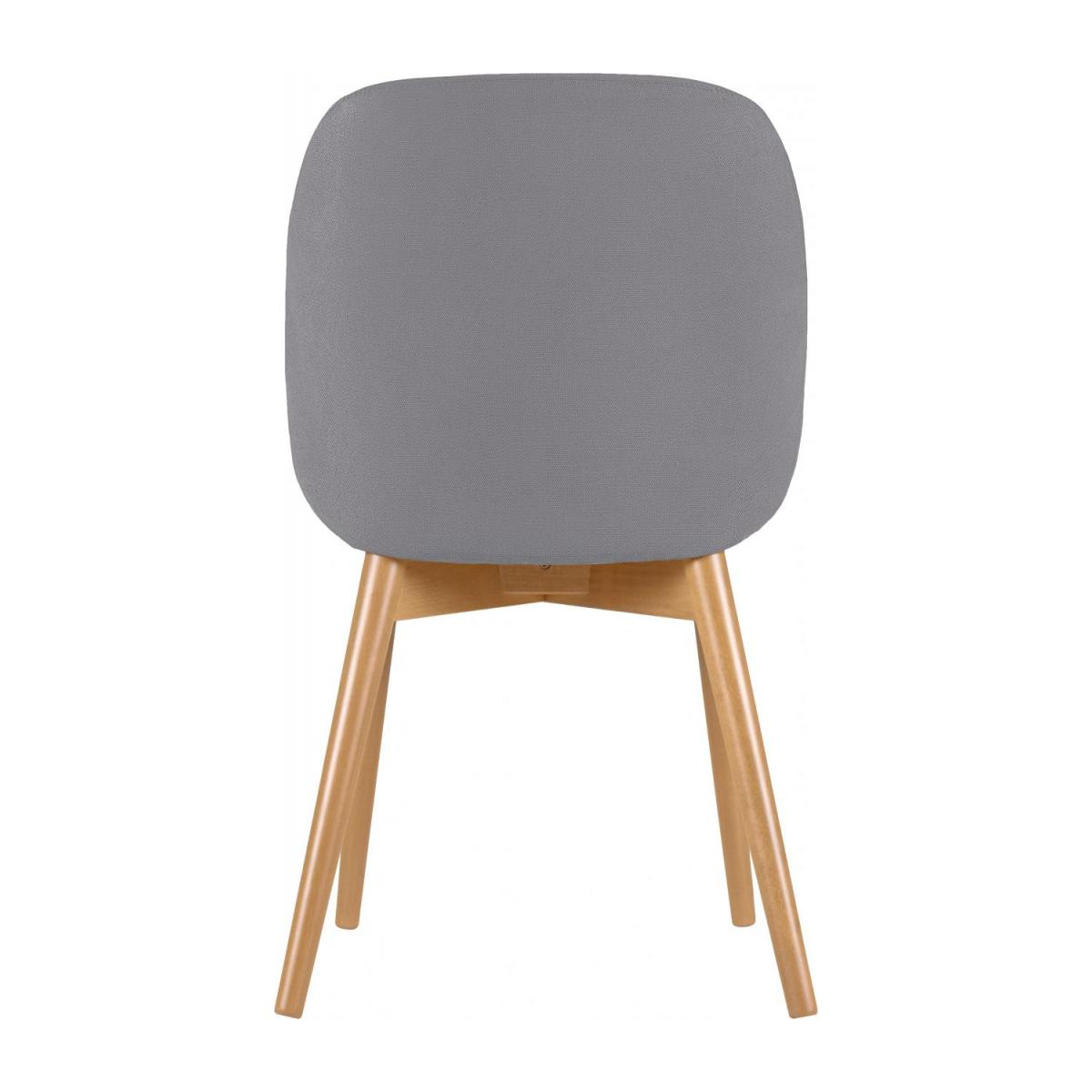 Chair with grey fabric cover and beech wood legs n°3