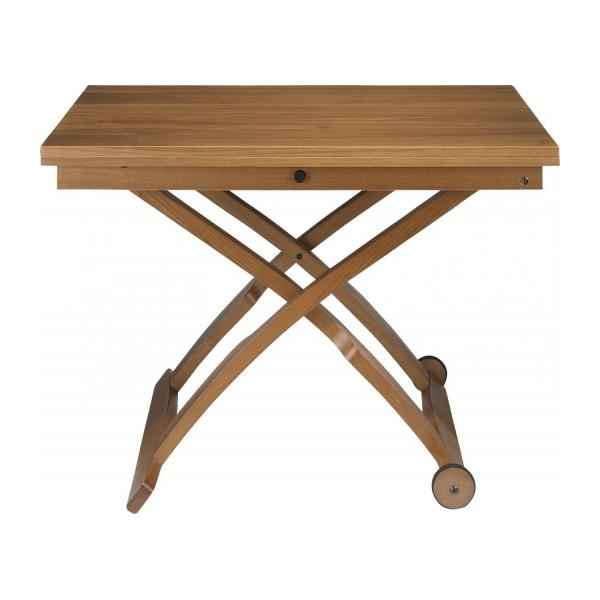 Allessio table basse en noyer relevable et extensible for Habitat table basse
