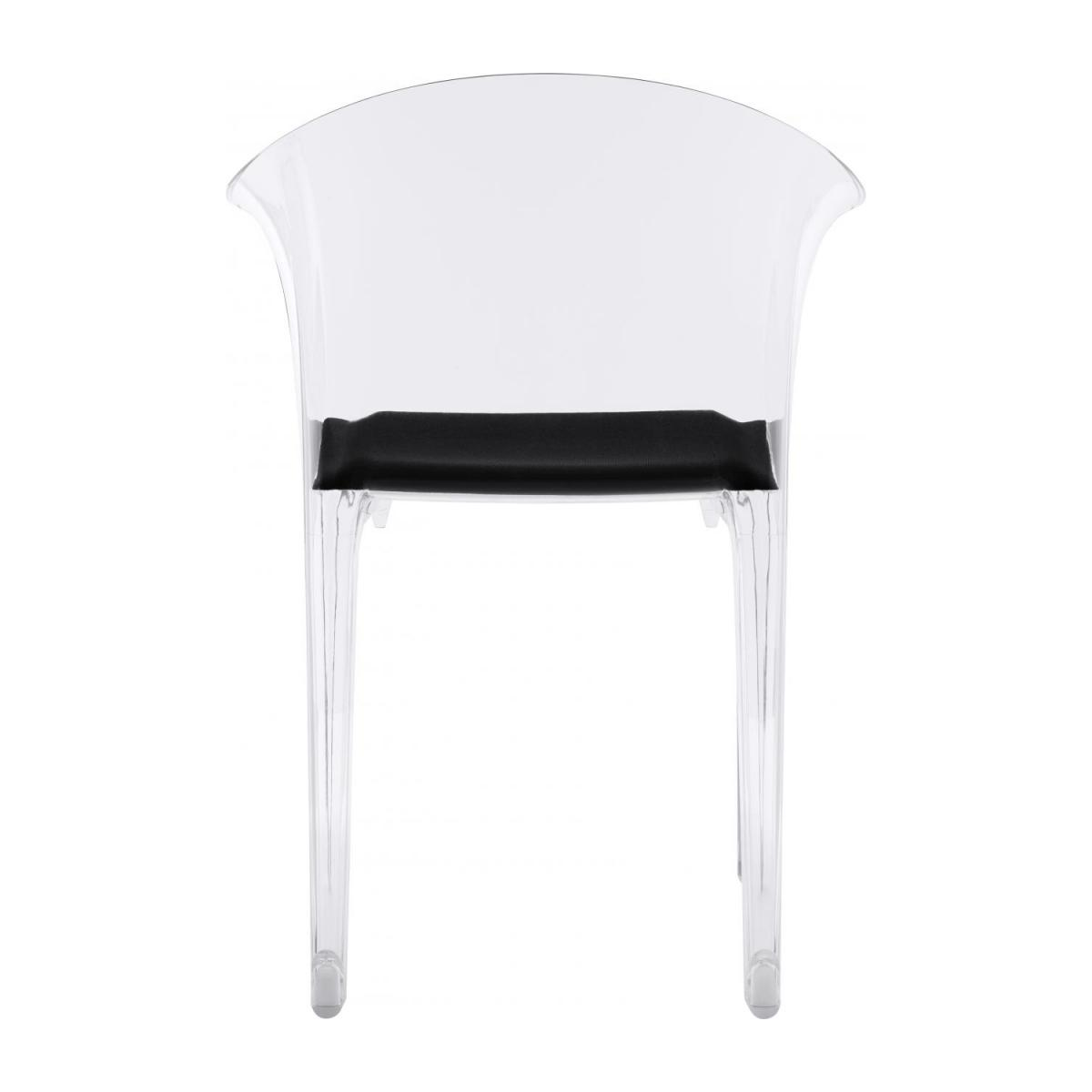 Transparent armchair in polycarbonate n°6