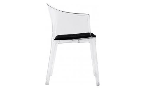 Transparent armchair in polycarbonate