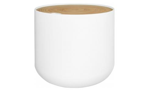 White side table 48cm