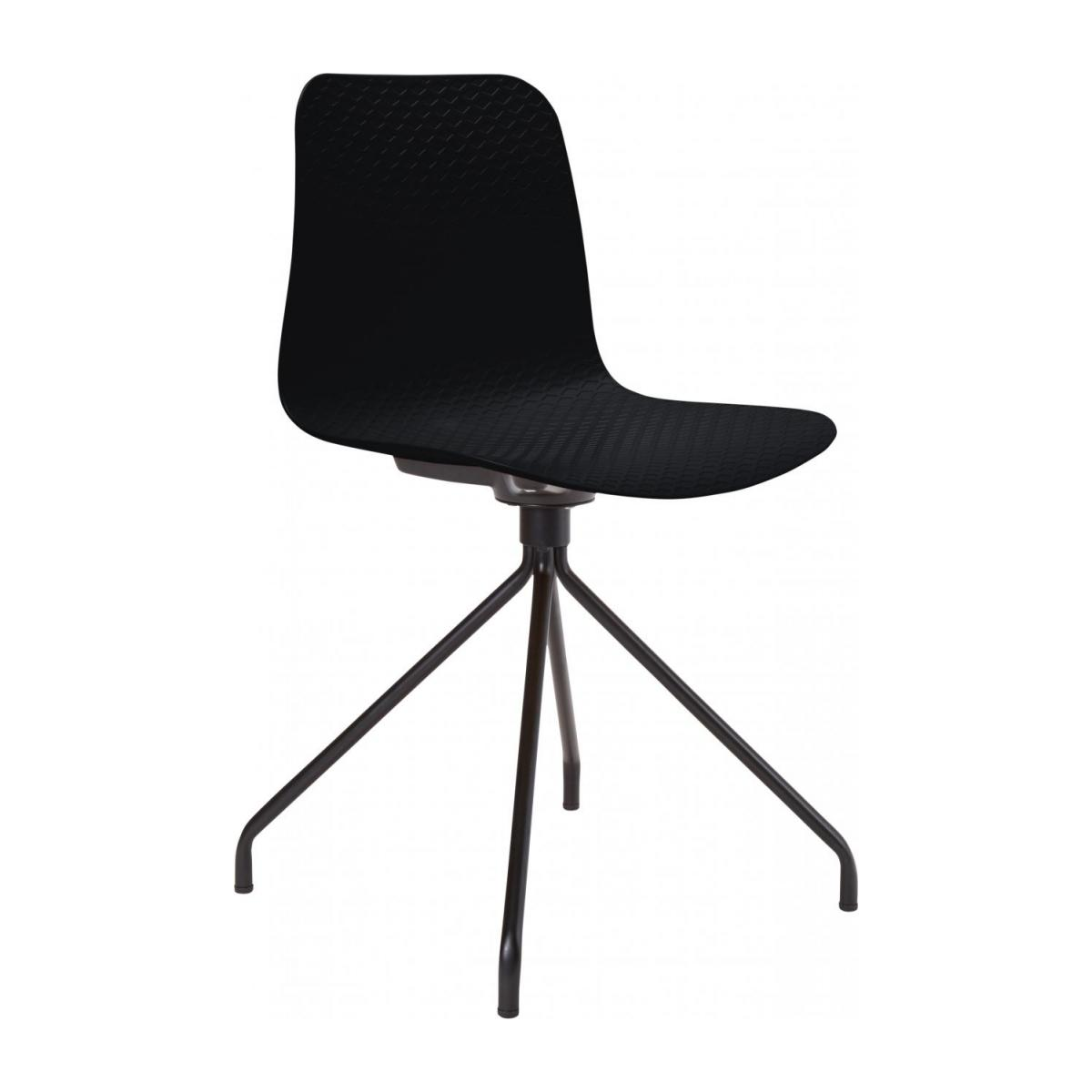 Black chair in polypropylene and lacquered steel legs n°1