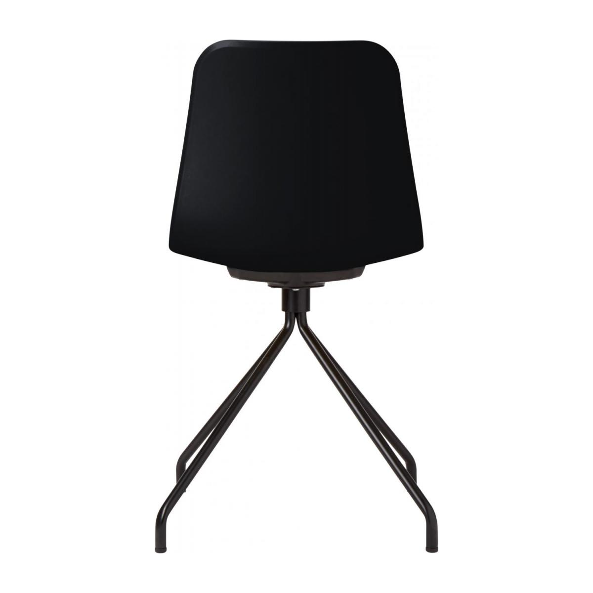 Black chair in polypropylene and lacquered steel legs n°4