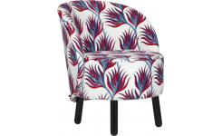 Fabric armchair with pattern