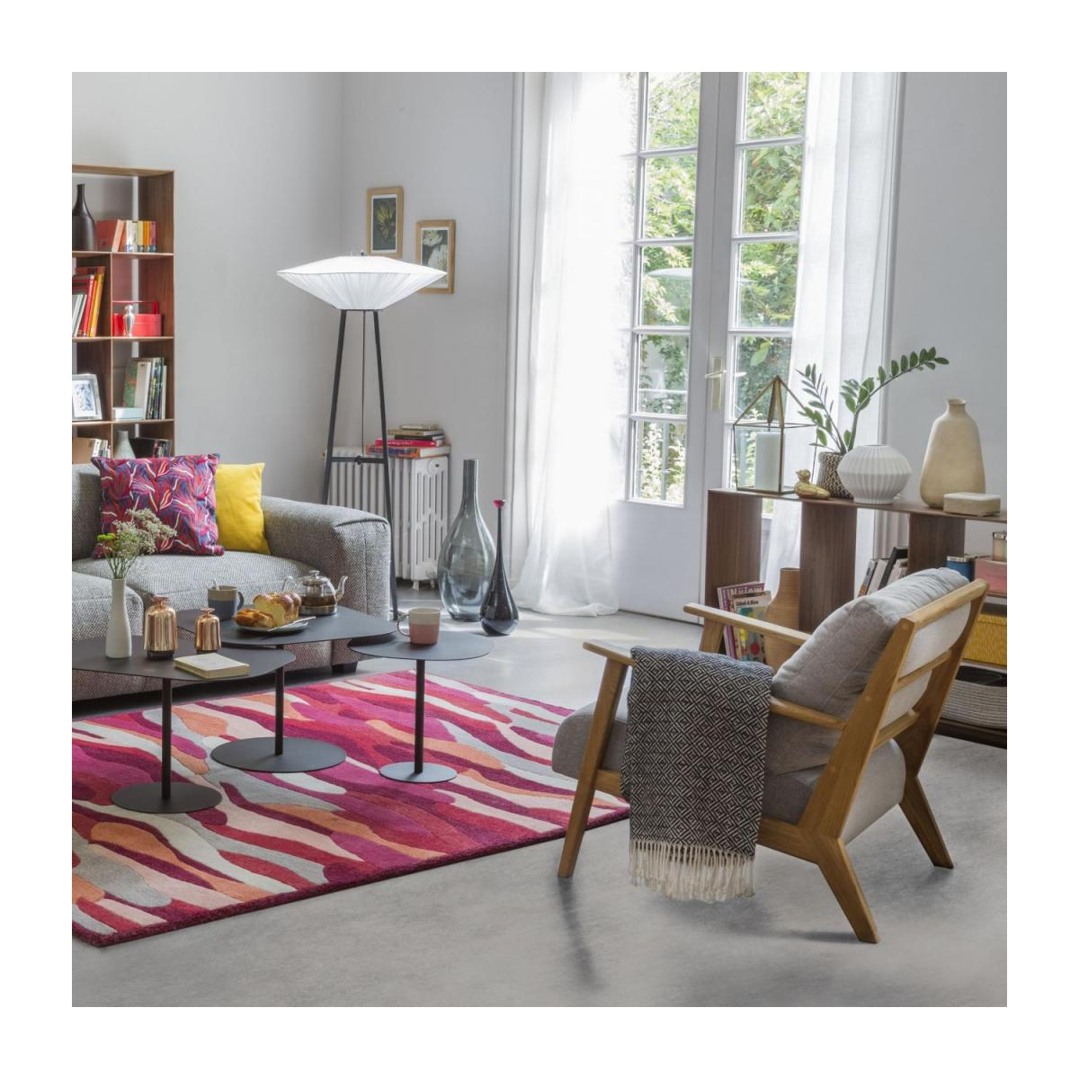 Tufted carpet main made of wool 240x170cm, with patterns n°5