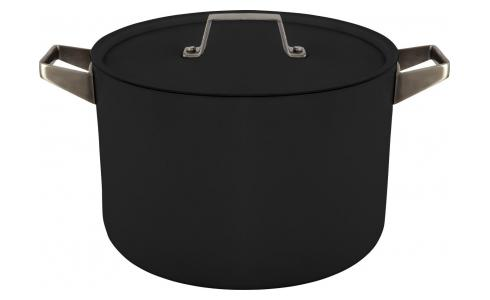 Aluminium pot and lid 22 cm with inner coating in Teflon