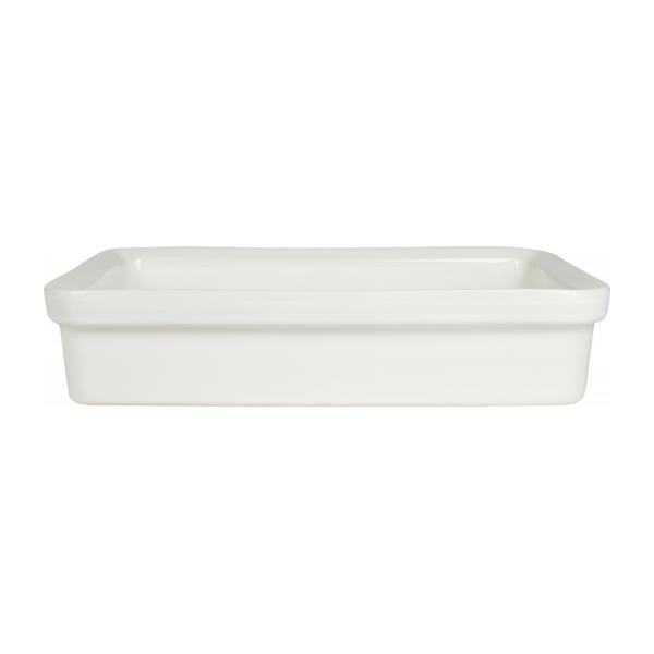 Oven dish made of faience 27x17cm, white n°2