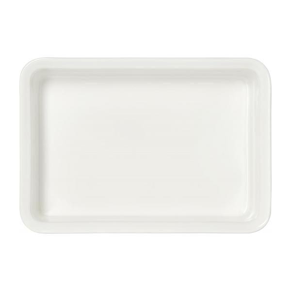 Oven dish made of faience 31x22cm, white n°3