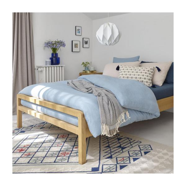 linen housse de couette bleue 240x220cm habitat. Black Bedroom Furniture Sets. Home Design Ideas