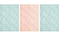 Set of 3 printed kitchen towels made of cotton