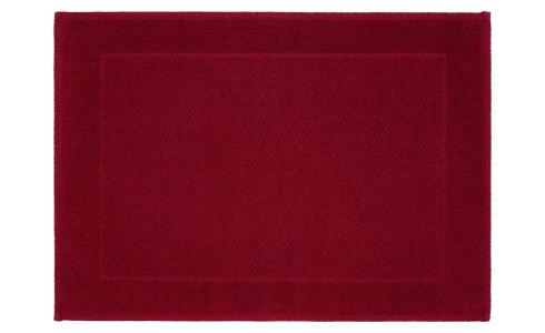 Bath mat made of cotton 60x80cm, red