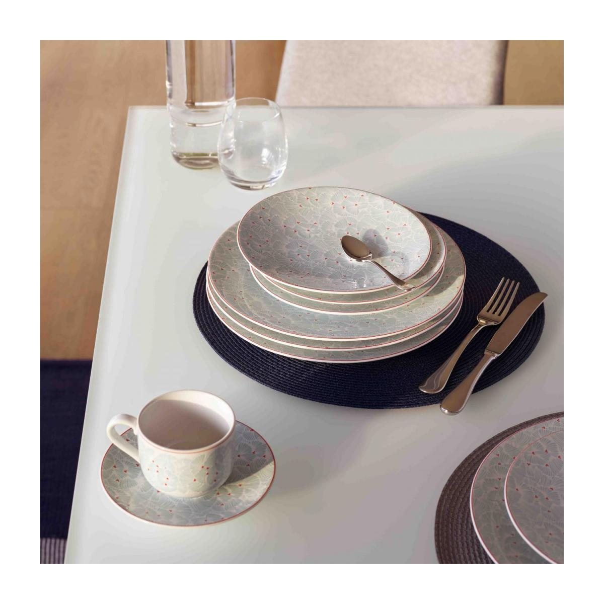 Set de table rond 38cm gris n°2