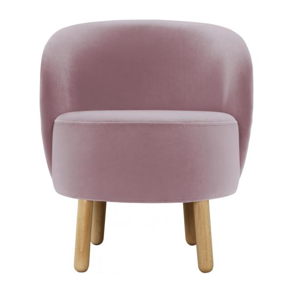 Armchair made of velvet, pink n°3