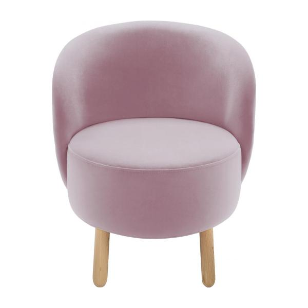 Armchair made of velvet, pink n°2
