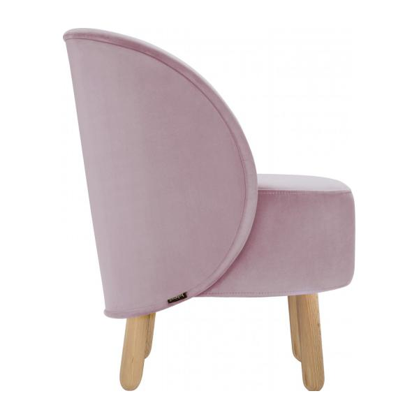 Armchair made of velvet, pink n°5