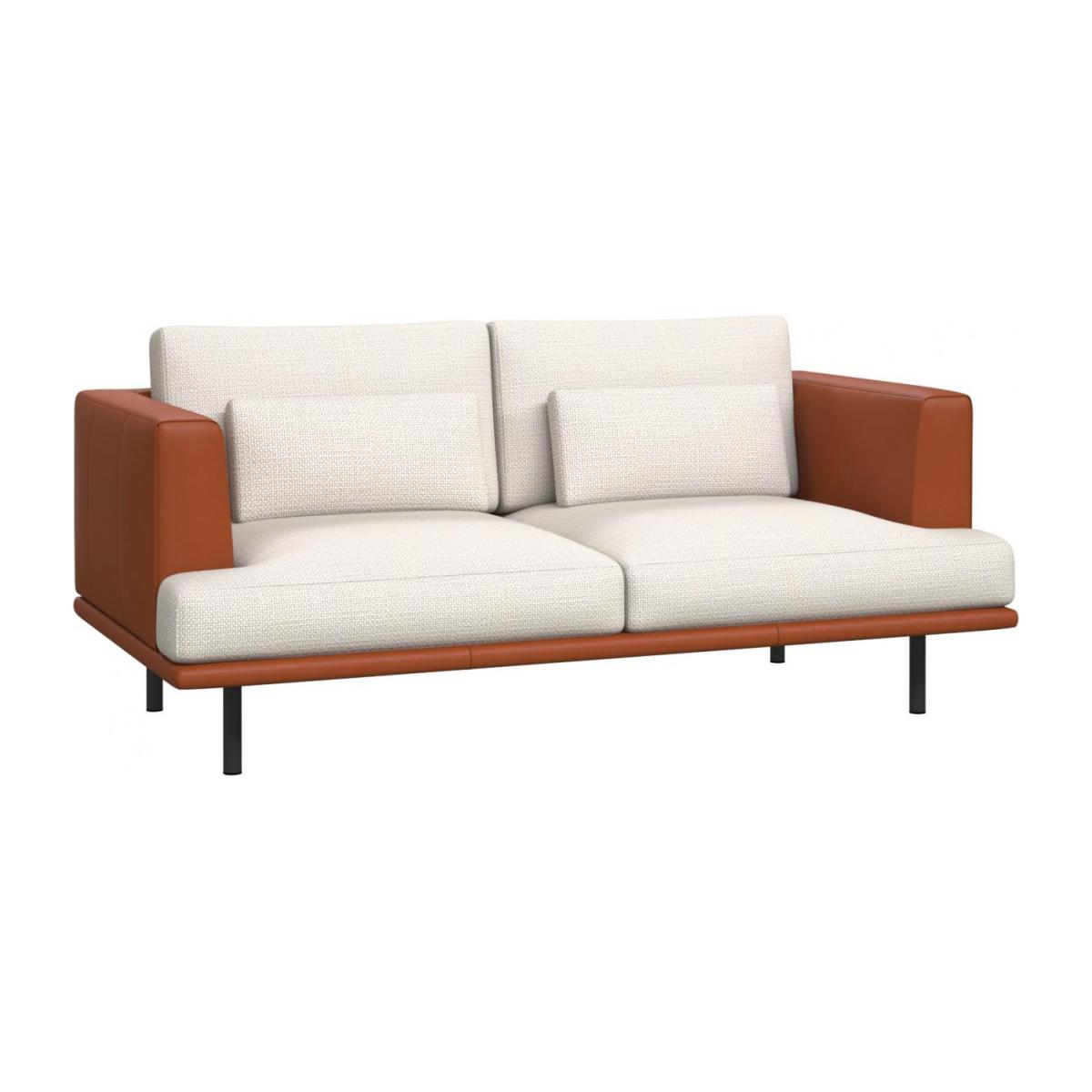 Baci 2 Seater Sofa In Fasoli Fabric Snow White With Base And