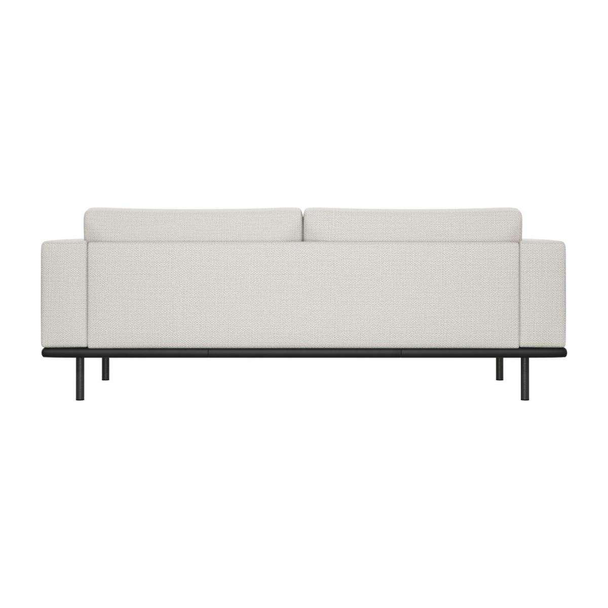 3 seater sofa in Fasoli fabric, snow white with base in black leather n°4