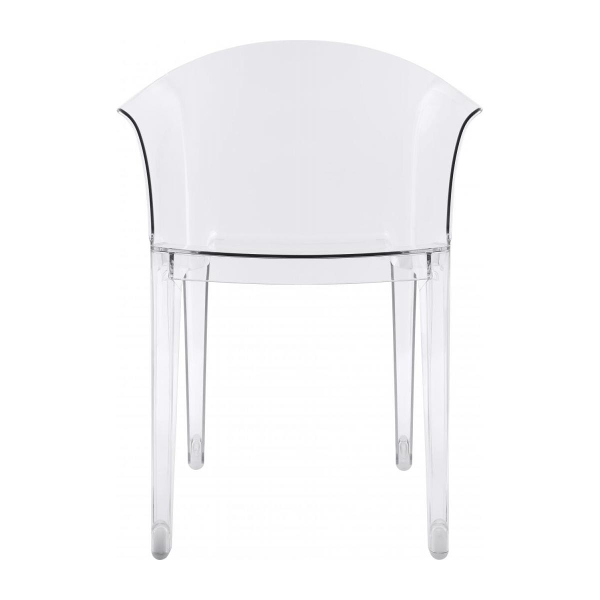 Transparent armchair in polycarbonate n°4
