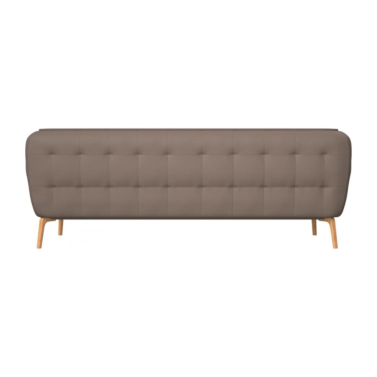 3 seater sofa in Eton veined leather, stone and natural oak feet n°3