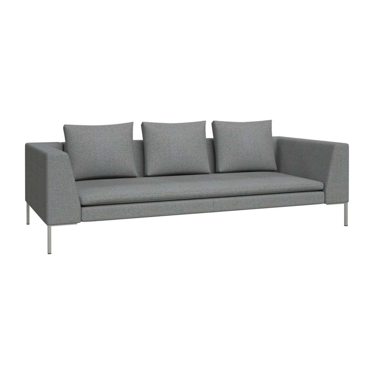 3 seater sofa in Lecce fabric, blue reef n°1