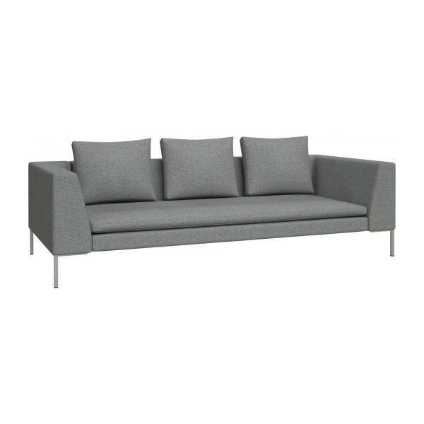3 seater sofa in Lecce fabric, blue reef