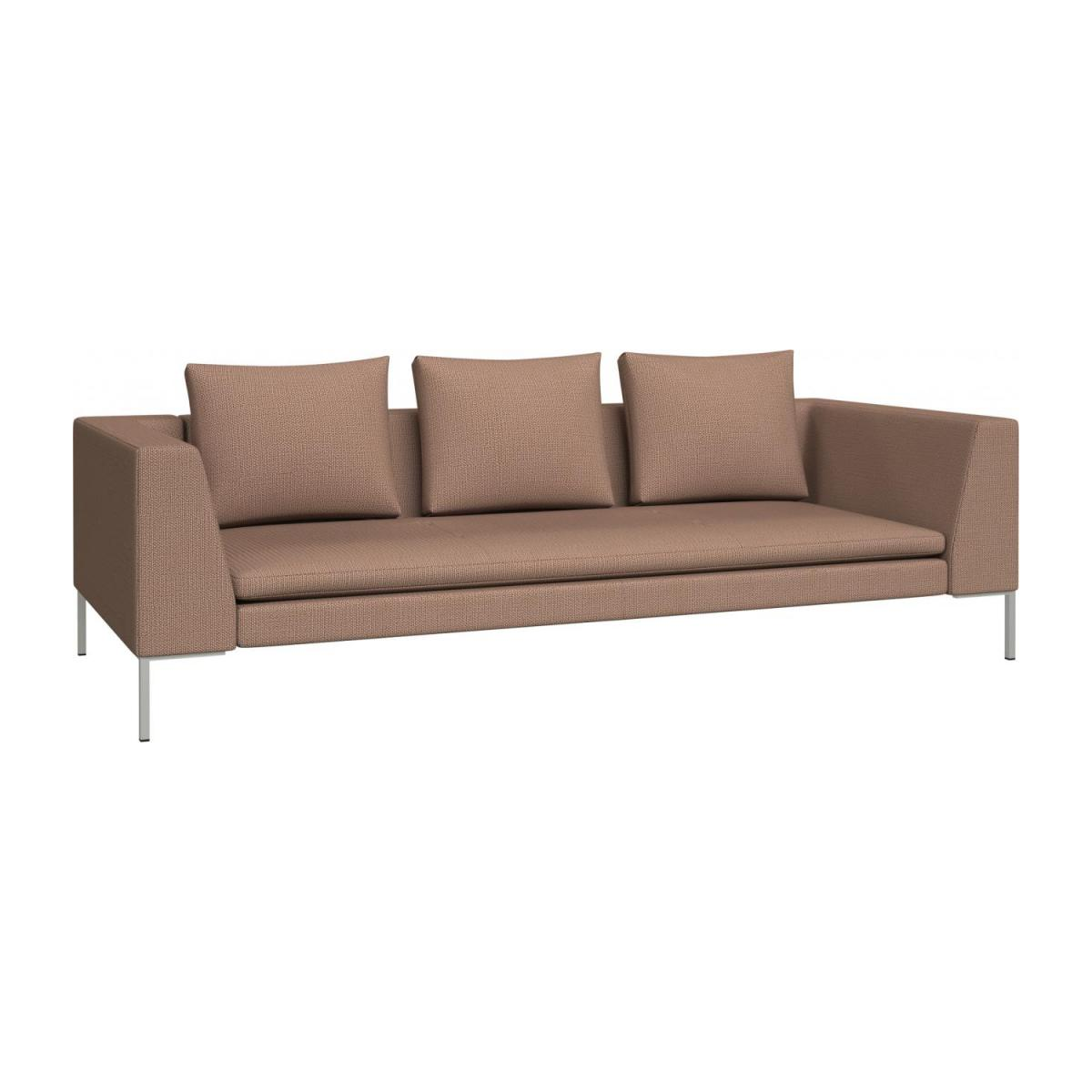 3 seater sofa in Fasoli fabric, jatoba brown