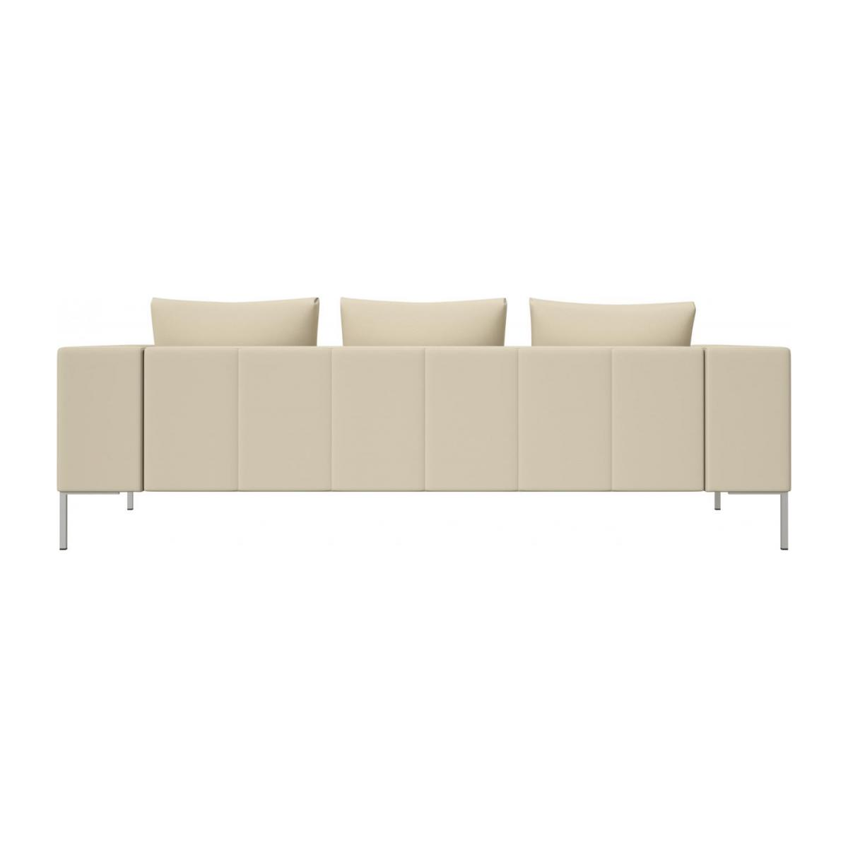 3 seater sofa in Savoy semi-aniline leather, off white n°3