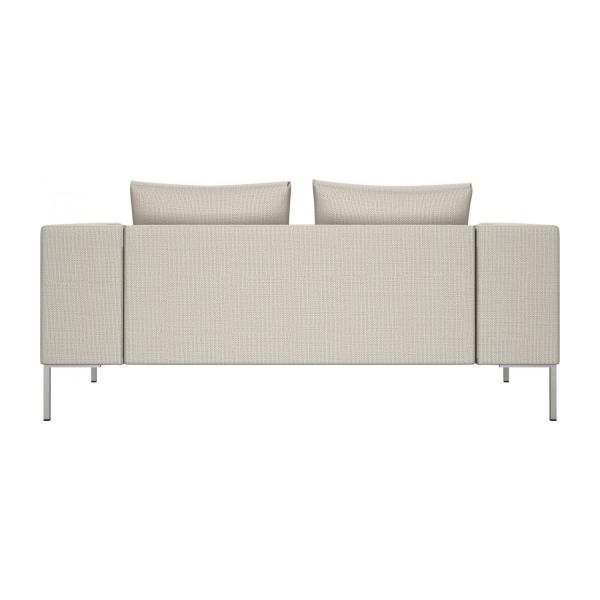 2 seater sofa in Fasoli fabric, snow white n°3