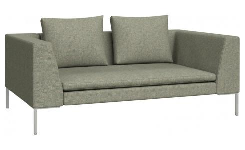 2 seater sofa in Bellagio fabric, organic green
