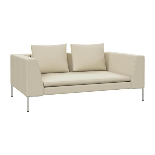 Genial 2 Seater Sofa In Savoy Semi Aniline Leather, Off White N°1