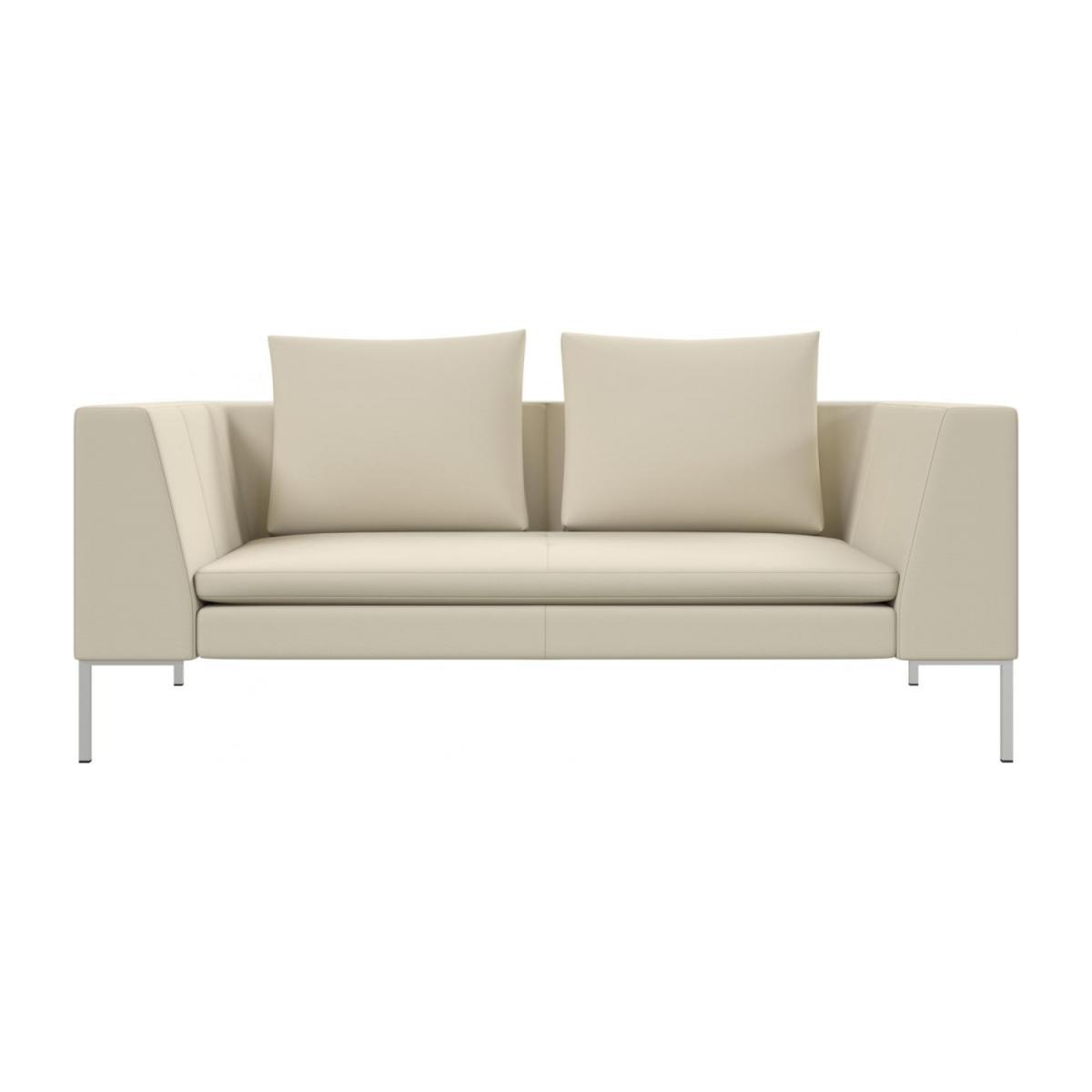 2 seater sofa in Savoy semi-aniline leather, off white n°2