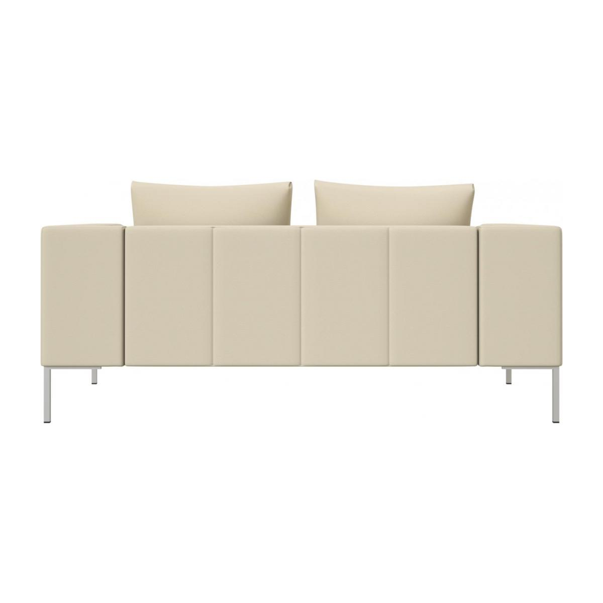 2 seater sofa in Savoy semi-aniline leather, off white n°3