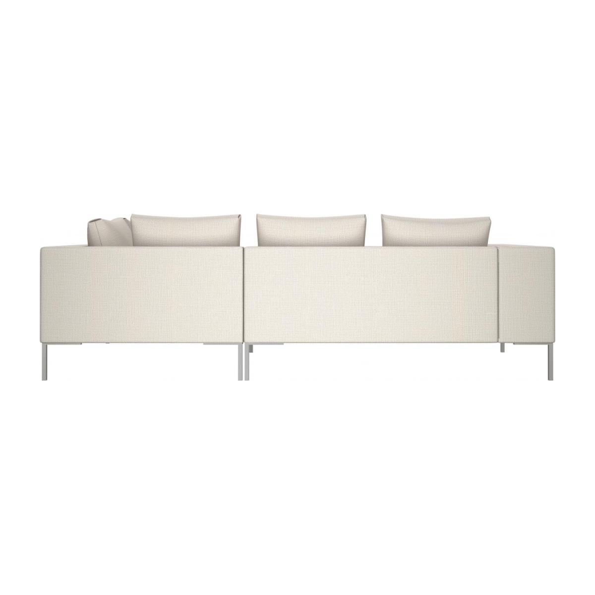 2 seater sofa with chaise longue on the right in Fasoli fabric, snow white  n°3