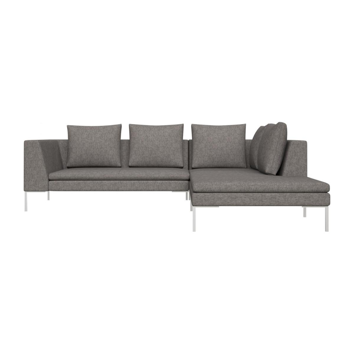 Montino 2 seater sofa with chaise longue on the right in Bellagio fabric,  night black