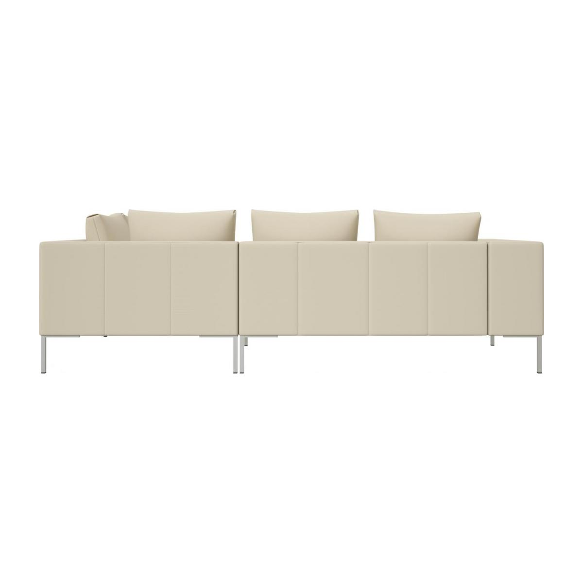 2 seater sofa with chaise longue on the right in Savoy semi-aniline leather, off white  n°3