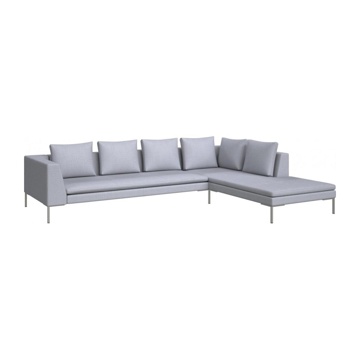 3 seater sofa with chaise longue on the right in Fasoli fabric, grey sky  n°1