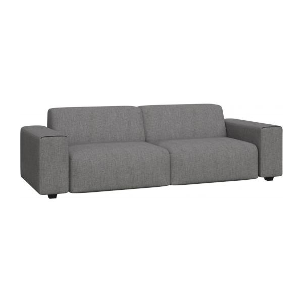 posada 4 sitzer sofa aus stoff grau meliert habitat. Black Bedroom Furniture Sets. Home Design Ideas