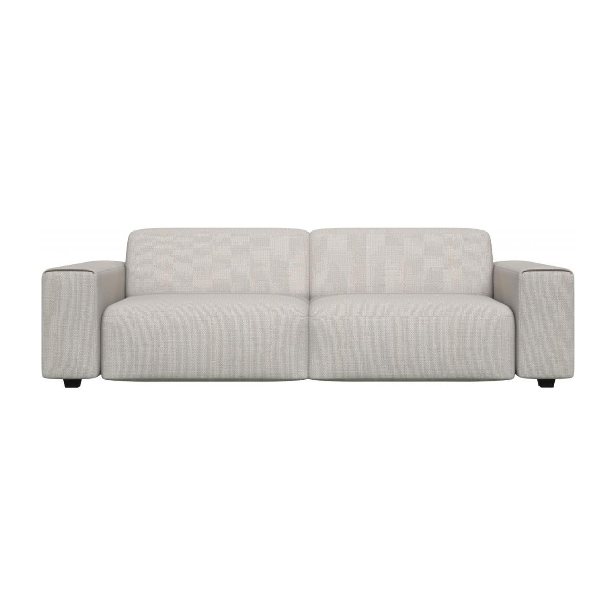 4 seater sofa in Fasoli fabric, snow white n°3