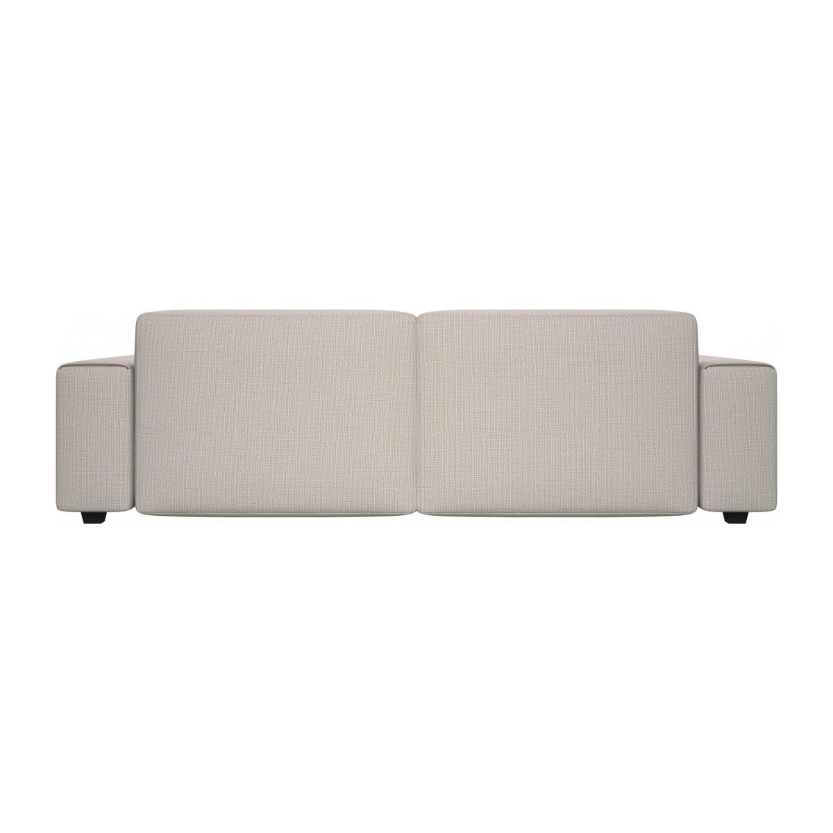 4 seater sofa in Fasoli fabric, snow white n°4