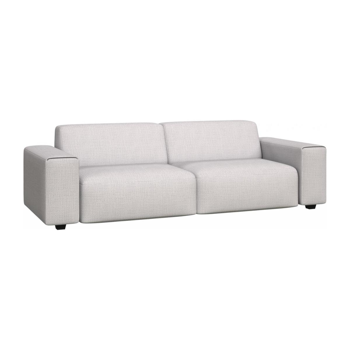4 seater sofa in Fasoli fabric, grey sky n°1