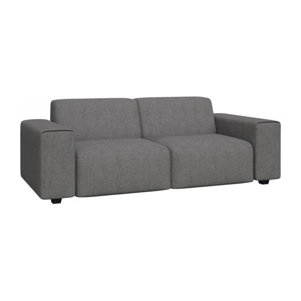 posada 3 sitzer sofa aus stoff grau meliert habitat. Black Bedroom Furniture Sets. Home Design Ideas